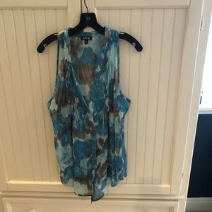 Apartment 9 patterned sleeveless blouse